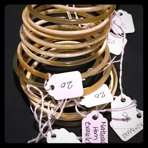 Jewelry - Natural Horn Bangles